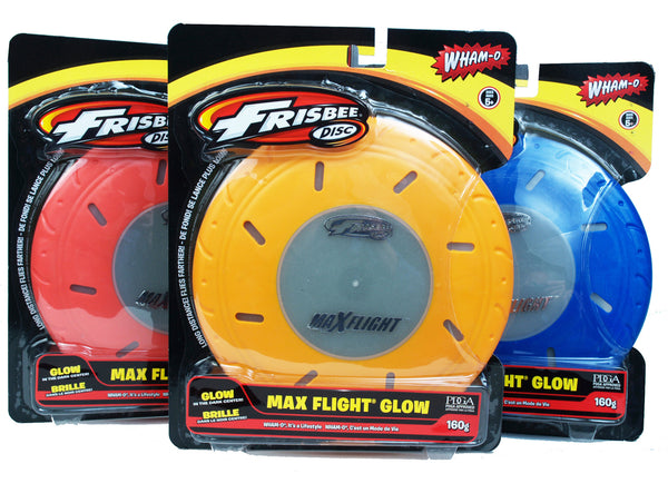 Wham-o Max Flight Glow 160g Frisbee Disc - PDGA Approved