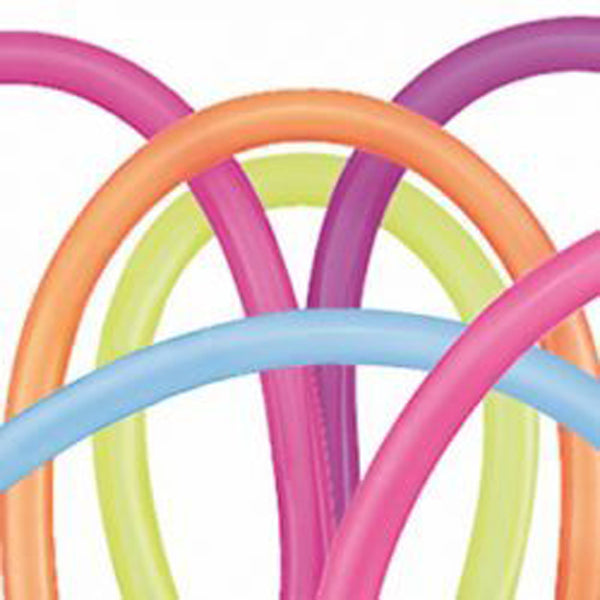 Animal Balloons 260Q (2'' x 60'') Twisting Latex Balloons -100 PACK-
