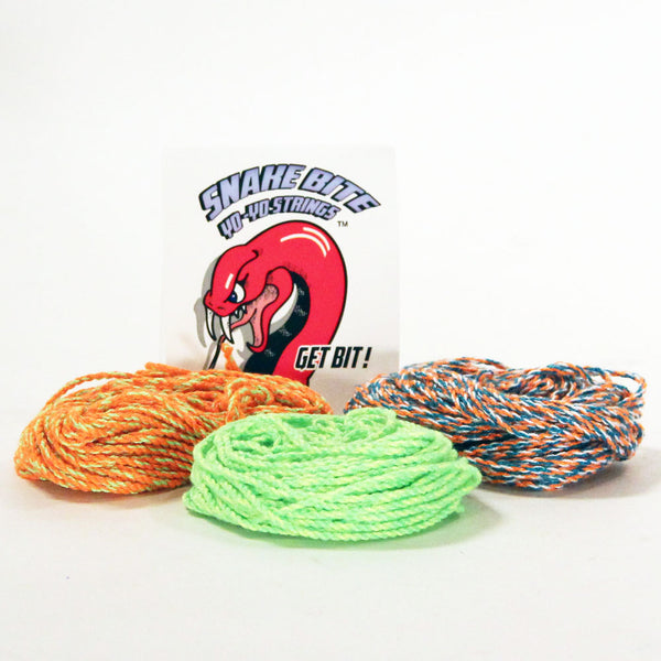 3 - 10 Packs of Snake Bite Yo-Yo Strings - 100% Polyester multi-color - 30 Strings