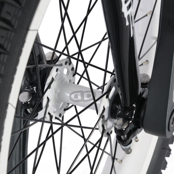 Impact 19'' Athmos Unicycle BLACK- White Rims - Ready to Ride Trials Package - High Performance Unicycle