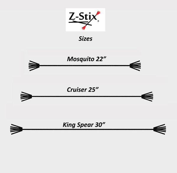 Z-Stix Made to Order Handmade Juggling Sticks-Flower/Devil Stick - Mosquito 22""