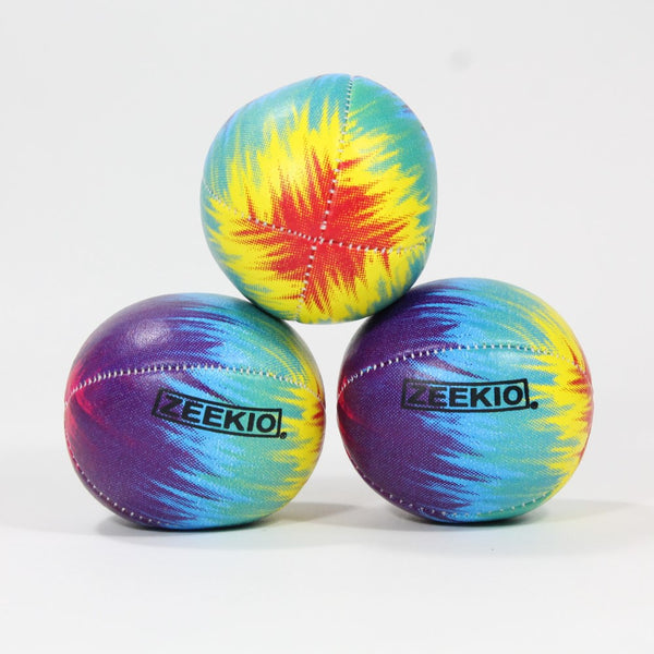 Zeekio Tie Dye Festival Juggling Ball Set - 120g - Beginner to Pro - Set of 3