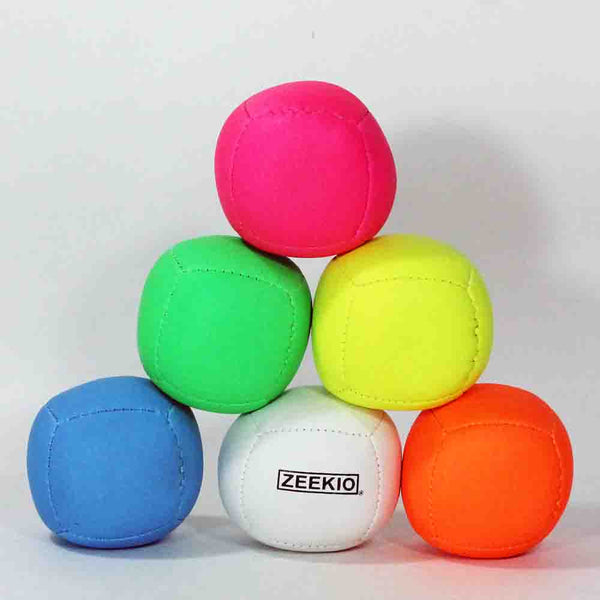 Zeekio Lunar Juggling Ball - (1) Professional UV Reactive 6 Panel Ball - 110g