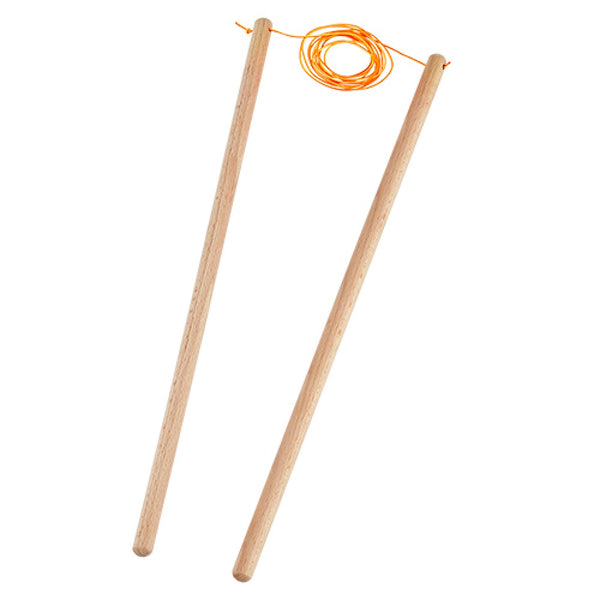 Henrys Diabolo Replacement Handsticks Beach 37cm - Wooden Diabolo Sticks