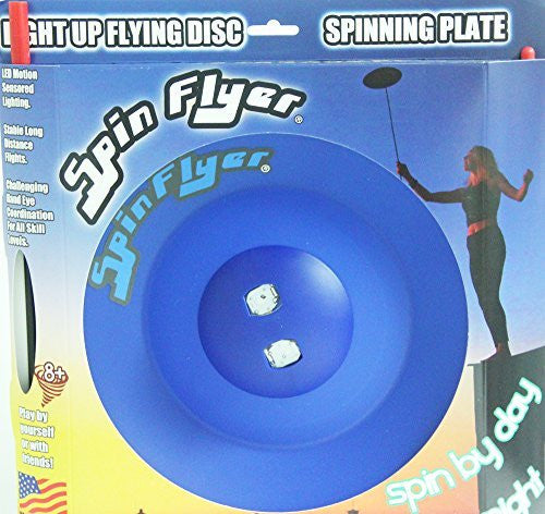 Spin Flyer Spinning Plate/Disc - Lights Up with LED Motion Sensors!