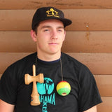 Bahama Kendama Baseball Cap - Flat Brim - Black with Gold Embroidery