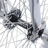 Unicycle 24'' Trainer Chrome UNICYCLE- Nimbus Seat Post Clamp - Chen Shin Whitewall Tire-