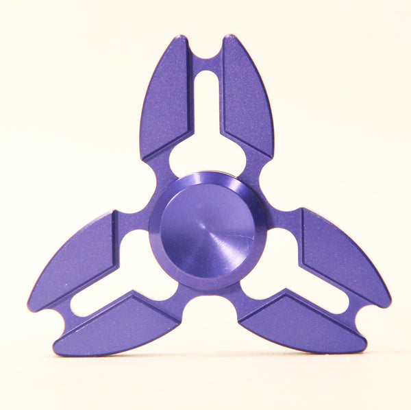 Tri-Star High Grade Aluminum Fidget Spinner -with Storage Case and Carry Pouch *Lead Free*