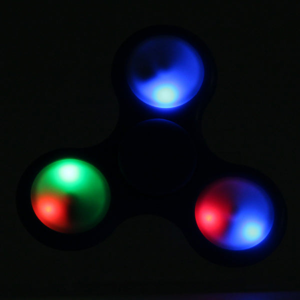 Hand Spinner -LED Tips Tri-Spinner - Fidget Toy