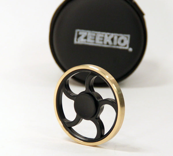 The Whisper Wheel Fidget Spinner - Brass and PVC with ceramic and steel bearing- By Zeekio