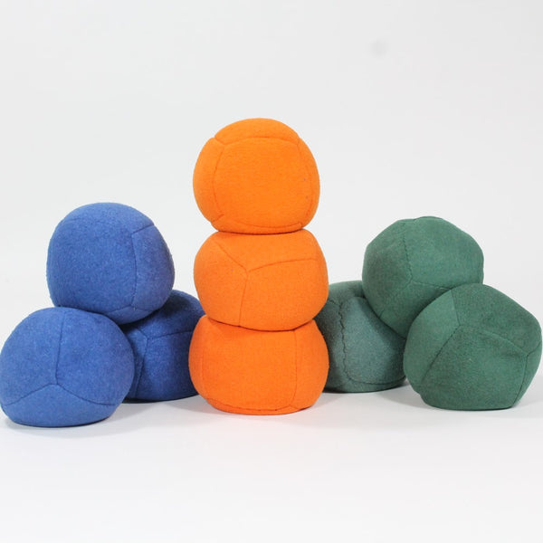 Zeekio Thud Juggling Ball Set - Lightweight 90g Beanbag Ball - Super Soft - Set of Three (3)