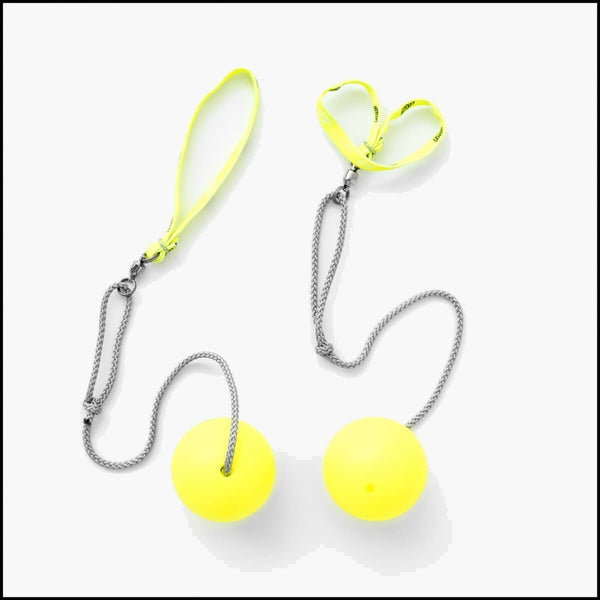 Play Pair of First Poi with 70mm Stage Ball - Loop Handle