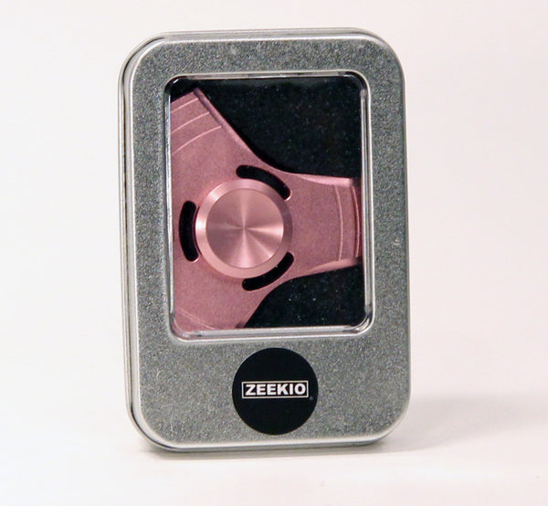 Zeekio Fidget Spinner - Slotted Windmill - Brass and Steel - Hybrid Ceramic Bearing