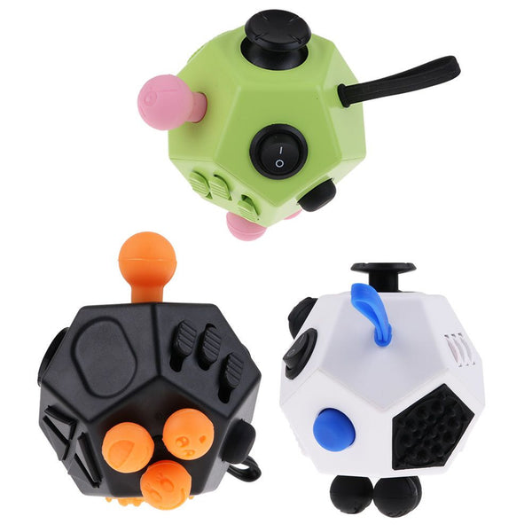 Fidget Cube - ADHD toy - Great for just keeping you hands busy! -12 SIDED-