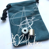 AroundSquare Everyman Delrin Begleri- with Stainless Steel Core- Pouch Extra Strings-