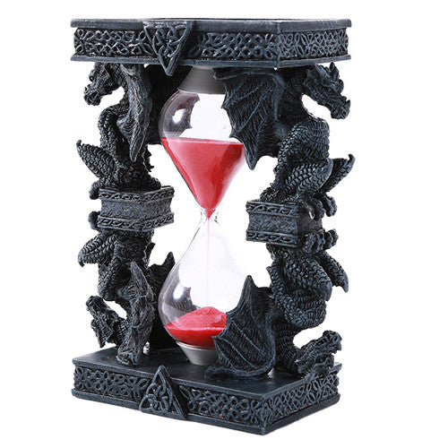 Mythical Fantasy Guardian Stone Dragon Sandtimer Hourglass