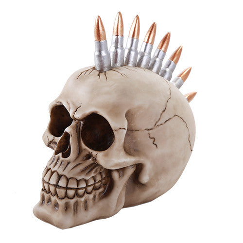 Skull Head Protruding Bullet Heads Collectible Figurine