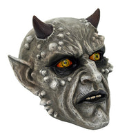 Demonic Skullhead with Horns Collectible Figurine 5.25H