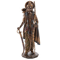 Rama Ramacandra Hindu God Figurine Indian Deity Collectible 10.25 Inch
