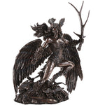 Celtic Mythology Morrigan Battle Crow Goddess of Death Strife Battle and Incarnation Collectible Figurine 10.75 Inch