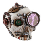 Steampunk Gearwork Plasma Plate Skull Desktop Collectible 7 Inch H