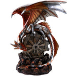 Steampunk Inspired Mechanical Gearwork Dragon Sculpture 10 Inch