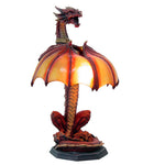 Altar Drake Guardian Dragon illuminated Wing Sculptural Lamp