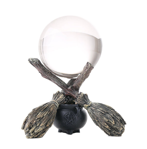 Wiccan and Witchraft Cauldron Broomstick Crystal Ball