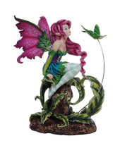 Beautiful Flirting Fairy with Hummingbird Collectible Decorative Statue 6.5H