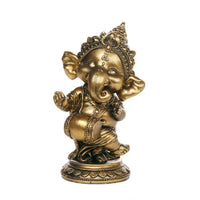 Ganesha The Hindu Elephant Deity Dancing Playing Instrument Ganesh Figurine Sculpture 6 Inch H