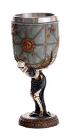 Skeleton Atlas Carrying the Weight of the Universe Skeleton Wine Goblet 7oz