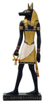 "Ancient Egyptian Hieroglyph Inspired Anubis God of Underworld Collectible Figurine 10"" Tall"