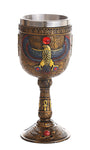 Ancient Egyptian Winged Horus Falcon Ceremonial Chalice Cup 7oz Wine Goblet
