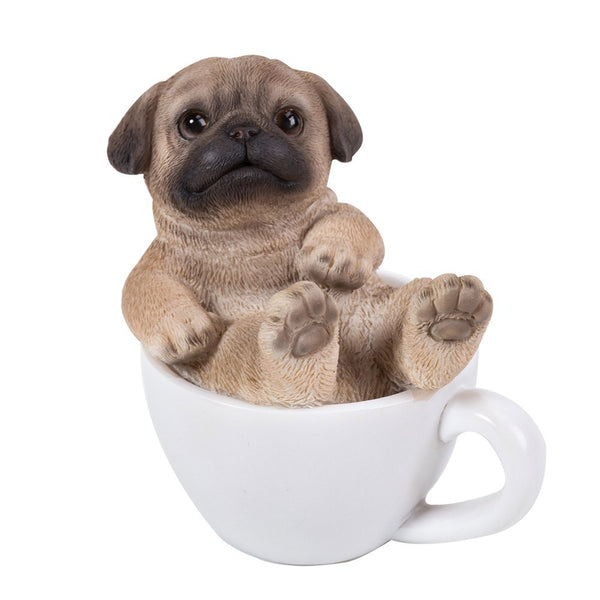 Pug Puppy Adorable Mini Teacup Pet Pals Puppy Collectible Figurine 3.25 Inches …