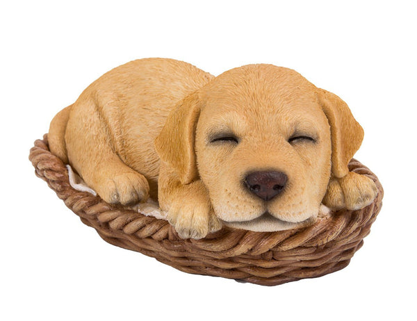 Labrador Puppy in Wicker Basket Pet Pals Collectible Dog Figurine 6.5 Inches L …