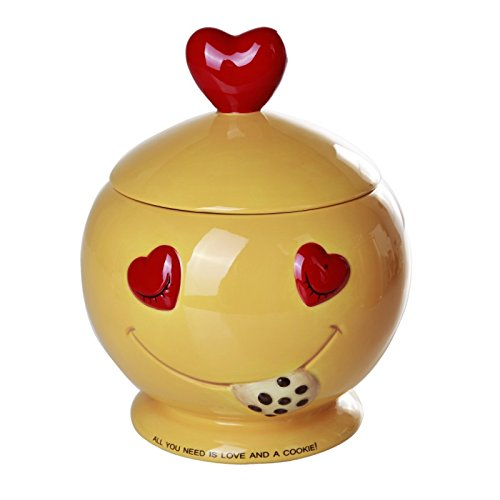 All You Need is Love and Cookies Ceramic Cookie Jar 8 Inch Tall