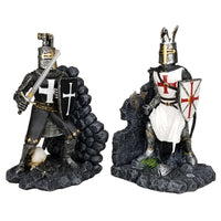 Medieval Time Religious War Crusader Knights Battle of Hattin Decorative Bookends Set