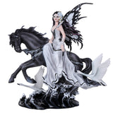 Lamentation of Swans Black Horse w/ Mask Fairy Collectible Figurine Nene Thomas Art Inspiration Official Licensed Collectible 12 Inch Tall