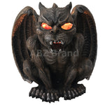 Guardian Vampire Winged Red Eye Standing Gargoyle Candle Holder Statue Figurine Gothic Myth Fantasy Sculpture Decor