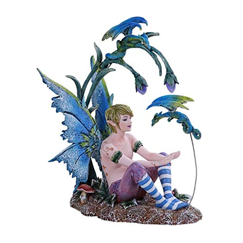 Amy Brown Art Original Collection Boy and His Dragon Male FAE Resin Collectible Figurine
