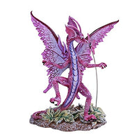 Dancing Winged Dragon with Butterfly Home Tabletop Decorative Resin Figurine
