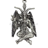 Baphomet Figurine Satanic Pagan Demon Occult Goat of Mendes Statue Necklace