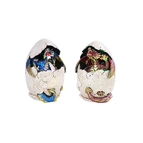 Small Colored Dragon Egg Home Decorative Resin Figurine Set of 2