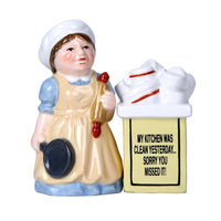 Clean Kitchen Ceramic Magnetic Salt and Pepper Shaker Set