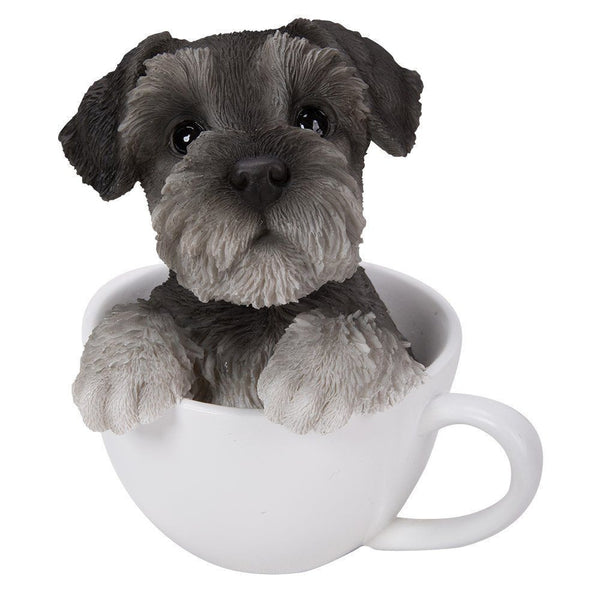 Adorable Teacup Pet Pals Schnauzer Puppy Collectible Figurine 5.75 Inches