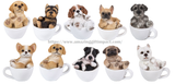 Puppy Adorable Mini Teacup Pet Pals Puppy Collectible Figurine 3.25 Inches