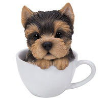 Adorable Teacup Pet Pals Yorkie Puppy Collectible Figurine 5.75 Inches