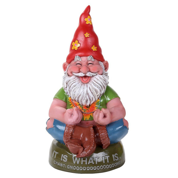 Hippie Gnome Meditating Chant Gnome Outdoor Statue 10.5 Inch Tall …