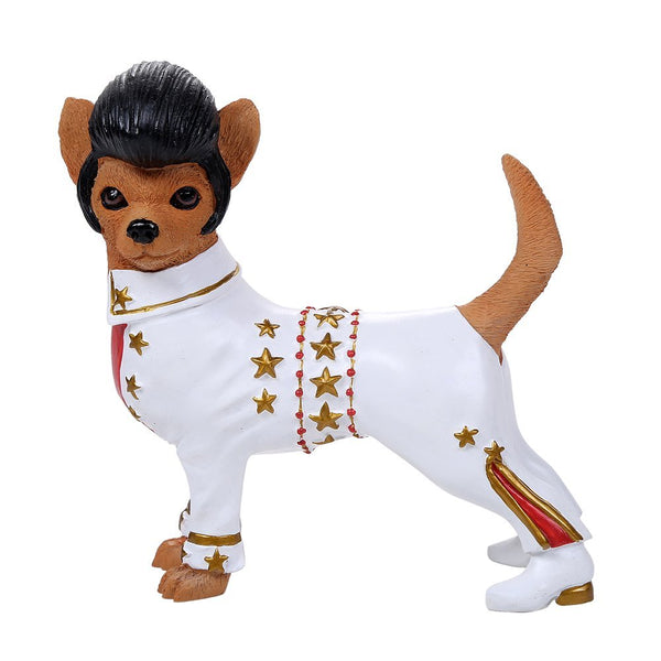 Adorable Elvis the King Chihuahua Collection Cute Chihuahua In Costume Dog Collectible