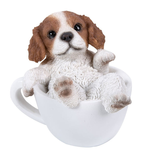 King Charles Spaniel Adorable Mini Teacup Pet Pals Puppy Collectible Figurine 3.25 Inches